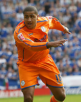 Photo: Steve Bond/Richard Lane Photography. <br /> Leicester City v Sheffield Wednesday. Coca-Cola Championship. 26/04/2008. Leon Clarke turns to celebrates as he watches his chip drop into the net