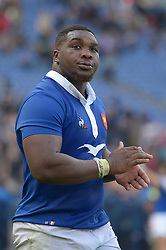 March 16, 2019 - Rome, Italy - Demba Bamba during RBS Six Nations Rugby Championship, Italia v Francia at the Olympic Stadium in Rome, on march 16, 2019  (Credit Image: © Silvia Lore/NurPhoto via ZUMA Press)