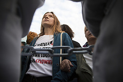 June 10, 2017 - Warsaw, Poland - Chained protesters during blockade on monthly ceremony marking the presidential plane crash in Smolensk, on June 10, 2017 in Warsaw, Poland. (Credit Image: © Maciej Luczniewski/NurPhoto via ZUMA Press)