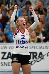 20170430 NED: Eredivisie, VC Sneek - Sliedrecht Sport: Sneek<br />Janieke Popma (2) of VC Sneek <br />©2017-FotoHoogendoorn.nl / Pim Waslander