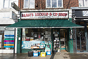 Alan's Records on the 27th March 2018 in East Finchley, North London in the United Kingdom.
