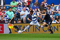 Football - 2021/2022  Sky Bet EFL Championship - Queens Park Rangers vs Millwall - Kiyan Prince Foundation Stadium - Saturday 7th August 2021.<br /> <br /> Chris Willock (Queens Park Rangers) takes on Murray Wallace (Millwall FC) <br /> <br /> COLORSPORT/DANIEL BEARHAM