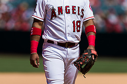 June 3, 2018 - Anaheim, CA, U.S. - ANAHEIM, CA - JUNE 03: Franklin during the MLB regular season game against the Texas Rangers and the Los Angeles Angels of Anaheim on June 03, 2018 at Angel Stadium of Anaheim in Anaheim, CA. (Photo by Ric Tapia/Icon Sportswire) (Credit Image: © Ric Tapia/Icon SMI via ZUMA Press)
