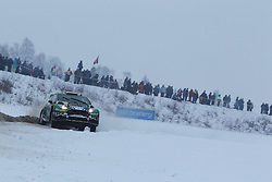 06.02.2014, Torsby, Hagfors, SWE, FIA, WRC, Schweden Rallye, Tag 2, im Bild Yurii Protasov/Pavlo Cherepin (Yurii Protasov/Ford Fiesta R5), Action / Aktion // during the FIA WRC Sweden Rally at the Torsby in Hagfors, Sweden on 2014/02/07. EXPA Pictures © 2014, PhotoCredit: EXPA/ Eibner-Pressefoto/ Bermel<br /> <br /> *****ATTENTION - OUT of GER*****