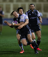 Rugby Union - 2020 / 2021 ERRC Challenge Cup - Newcastle Falcons vs Cardiff Blues - Kingston Park<br /> <br /> Joel Hodgson of Newcastle Falcons is tackled by Lloyd Williams of Cardiff Blues <br /> <br /> COLORSPORT/BRUCE WHITE