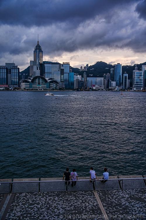 HK Skyline from Tsim Sha Tsui Promenade, Kowloon