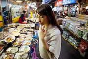 Anne Desmarais at the large traditional Namdaemun Market in Seoul, South Korea.