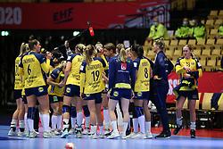 HERNING, DENMARK - DECEMBER 3, 2020: EHF Euro 2020 Group C match between Sweden and Czech Republic in Jyske Bank Boxen, Herning, Denmark on December 3 2020. Photo Credit: Allan Jensen/EVENTMEDIA.