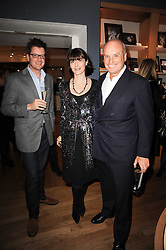 Left to right, WILLIAM SITWELL and NICHOLAS & GEORGIA COLERIDGE at a party to celebrate 25 years of the David Linley store , 60 Pimlico Road, London on 16th November 2010.