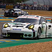#92 Porsche 911 RSR, Porsche Team Manthey,  driven by Patrick Pilet,  Frederic Makowiecki,  Wolf Henzler, Q1, Le Mans 24hr 2015