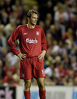 Fotball<br /> England 2005/2006<br /> Foto: SBI/Digitalsport<br /> NORWAY ONLY<br /> <br /> Liverpool v CSKA Sofia<br /> UEFA Champions League.<br /> 23/08/2005.<br /> <br /> Liverpool's Dietmar Hamann is dropped from the German team.