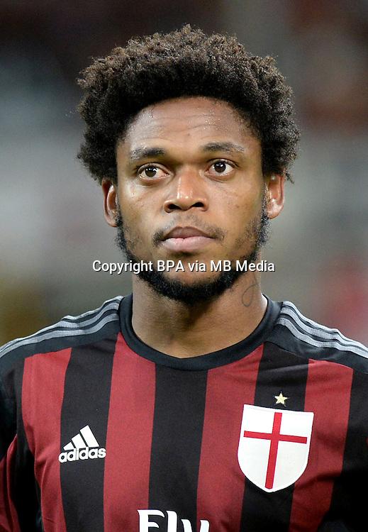 "Italian League Serie A -2015-2016 / <br /> ( AC Milan  ) - <br /> Luiz Adriano de Souza da Silva "" Luiz Adriano """