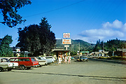 CS03644. Crab Broiler, Cannon Beach Junction on Hwy 101 near Seaside. Kodachrome processed August 1967.
