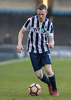 Football - 2016 / 2017 FA Cup - Fifth Round: Millwall vs. Leicester City <br /> <br /> Shane Ferguson of Millwall at The Den<br /> <br /> COLORSPORT/DANIEL BEARHAM