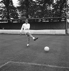 England's Roger Hunt during a training session at Wembley FC.
