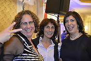 Garden City, New York, USA. 3rd November 2015. R-L, Democrat MADELINE SINGAS speaks with supporters ALLISON DREW KLEIN and wife LISA ANN PADILLLA at the Election Night Party of the Nassau County Democrats, at the Garden City Hotel. That night, Acting District Attorney Singas claimed victory over Republican Kate Murray in the hotly contested race for Nassau County DA.