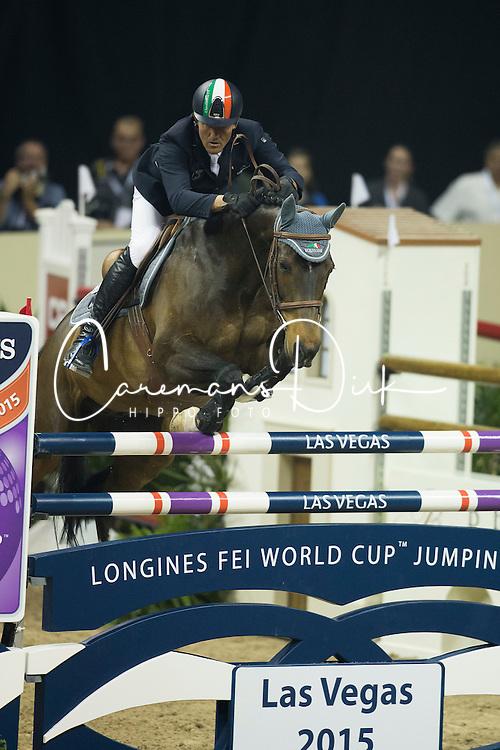 Moneta Luca Maria, (ITA), Connery<br /> Longines FEI World Cup™ Jumping Final I<br /> Las Vegas 2015<br />  © Hippo Foto - Dirk Caremans<br /> 17/04/15