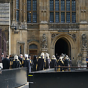 London, England, UK. 2nd October 2017. Judges arrive at the Houses of Paliament for the Lord Cancellor's breakfeast.