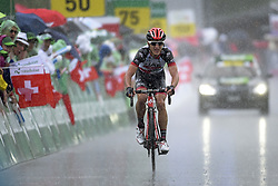 June 15, 2017 - Locarno / La Punt, Suisse - CONTI Valerio (ITA) Rider of UAD Abu Dhabi during stage 6 of the Tour de Suisse cycling race, a stage of 166 kms between Locarno and La Punt on June 15, 2017 in La Punt, Switserland, 15/06/2017 (Credit Image: © Panoramic via ZUMA Press)