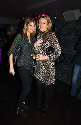 Left to right, VIOLET VON WESTENHOLTZ and JOSIE GOODBODY at a party to celebrate the opening of Kitts nightclub, 7-12 Sloane Square, London on 7th December 2006.<br />