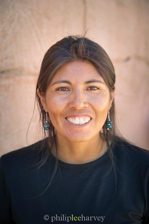 Portrait of a Atacama Desert Tour Guide.Quebrada Kezala Canyon, Atacama Desert, Chile, South America