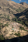 Agricultural village in Huacarpay Valley, Sacred Valley, Peru, South America