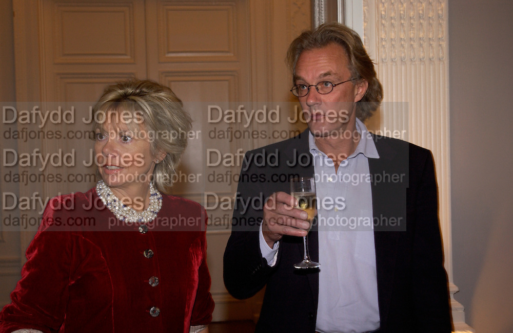 Mr. and Mrs. John Leveson, launch of 'David Hemmings Blow-Up and other exaggerations'. Published by Robson. I.C.A. The Mall.  SUPPLIED FOR ONE-TIME USE ONLY-DO NOT ARCHIVE. © Copyright Photograph by Dafydd Jones 66 Stockwell Park Rd. London SW9 0DA Tel 020 7733 0108 www.dafjones.com