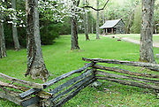 A cabin in Cades Cove. Great Smoky Mountain National Park.