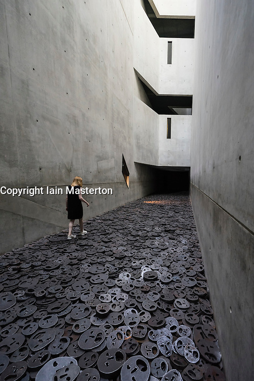 Interior architecture of the Memory Void room at the Jewish Museum in Kreuzberg Berlin Germany