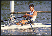 Henley, Great Britain,  Cometitor, Diamond Challenge Sculls, 1988 Henley Royal Regatta, Henley Reach, River Thames, Annual Event. [Mandatory credit: Peter Spurrier/Intersport Images]