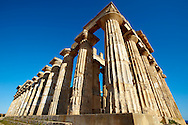 Greek Dorik Temple ruins of Temple F at Selinunte, Sicily photography, pictures, photos, images & fotos. Greek Dorik Temple columns of the ruins of the Temple of Hera, Temple E, Selinunte, Sicily .<br /> <br /> If you prefer to buy from our ALAMY PHOTO LIBRARY  Collection visit : https://www.alamy.com/portfolio/paul-williams-funkystock/selinuntetemple.html<br /> Visit our CLASSICAL WORLD HISTORIC SITES PHOTO COLLECTIONS for more photos to buy as buy as wall art prints https://funkystock.photoshelter.com/gallery-collection/Classical-Era-Historic-Sites-Archaeological-Sites-Pictures-Images/C0000g4bSGiDL9rw