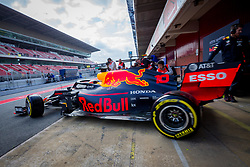 February 19, 2019 - Montmelo, Barcelona, Catalonia, Spain - Barcelona-Catalunya Circuit, Montmelo, Catalonia, Spain - 19/02/2018: Pierre Gasly of Aston Martin RedBull Racing with the new RB15 car leaving the box during second journey of F1 Test Days in Montmelo circuit. (Credit Image: © Javier Martinez De La Puente/SOPA Images via ZUMA Wire)