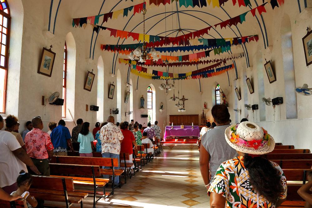 Iglesia, Rangiroa, Archipiélago Tuamotu, Polinesia Francesa