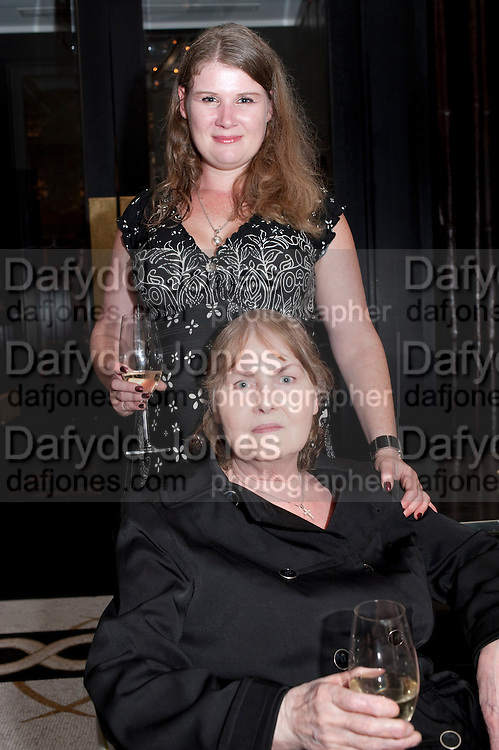 CLAIRE RAYNER; ANNE RAYNER; , Massimo's restaurant at the Corinthia Hotel, Whitehall  host the after party  for 'Claire Rayner's benefit show' 5 June 2011. <br /> <br />  , -DO NOT ARCHIVE-© Copyright Photograph by Dafydd Jones. 248 Clapham Rd. London SW9 0PZ. Tel 0207 820 0771. www.dafjones.com.