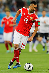 June 19, 2018 - Saint Petersburg, Russia - Alexander Samedov of Russia national team during the 2018 FIFA World Cup Russia group A match between Russia and Egypt on June 19, 2018 at Saint Petersburg Stadium in Saint Petersburg, Russia. (Credit Image: © Mike Kireev/NurPhoto via ZUMA Press)