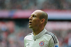 14.09.2013, Allianz Arena, Muenchen, GER, 1. FBL, FC Bayern Muenchen vs Hannover 96, 5. Runde, im Bild Arjen Robben (FC Bayern Muenchen), seitliche Ansicht, Portraet, Portrait, // during the German Bundesliga 5th round match between FC Bayern Muenchen vs Hannover 96 at the Allianz Arena in Munich, Germany on 2013/09/14. EXPA Pictures © 2013, PhotoCredit: EXPA/ Eibner/ Wolfgang Stuetzle<br /> <br /> ***** ATTENTION - OUT OF GER *****