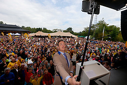 May 25, 2019 - Muizen, Belgium - N-VA chairman Bart De Wever and takes a selfie during the yearly family day of conservative Flemish nationalist party N-VA, on Saturday 25 May 2019 at the Planckendael animal park in Muizen. (Credit Image: © Nicolas Maeterlinck/Belga via ZUMA Press)