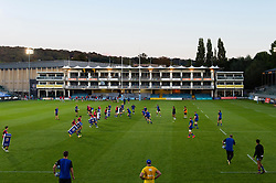 Bath Rugby players in action during the pre-match warm-up - Mandatory byline: Patrick Khachfe/JMP - 07966 386802 - 09/09/2020 - RUGBY UNION - The Recreation Ground - Bath, England - Bath Rugby v Worcester Warriors - Gallagher Premiership