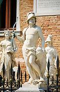 Statues at the entrance to the Arsenal, Venice, Veneto, Italy