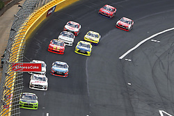 May 26, 2018 - Concord, North Carolina, United States of America - Brad Keselowski (22) leads the field off turn four during the Alsco 300 at Charlotte Motor Speedway in Concord, North Carolina. (Credit Image: © Chris Owens Asp Inc/ASP via ZUMA Wire)