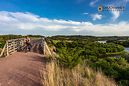 Riding the Niobrara River Trestle on the Cowboy Trail in Valentine, Nebraska, USA MR