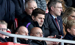 Tottenham Hotspur's Chairman Daniel Levy (bottom row, centre) and Tottenham Hotspur manager Mauricio Pochettino in the stands during the Premier League match at St Mary's Stadium, Southampton.