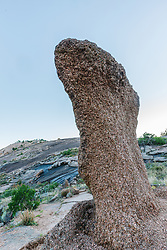 Granite form, Enchanted Rock State Natural Area, near Fredericksburg, Texas in the Texas Hill Country, USA.