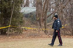 "Toronto, CAN., 29 Jan 2018 - A large green tent enclosing the back yard of a Leaside home is the site where the remains of 3 additional victims have been located. Toronto landscaper Bruce McArthur, 66, was charged with an additional three First-Degree Murders, on January, 29th, 2018, in addition to the two charges at the time of his arrest on January, 18th, 2018. Police have found the remains of three victims at one of 35 sites where McArthur had worked as a landscaper. Now being described by Toronto Police as a ""serial killer"", a description they were not prepared to use at the time of his arrest.VICTOR BIRO/ZumaPress"