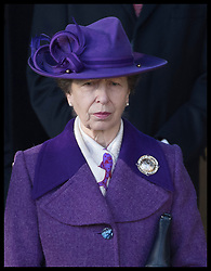 December 25, 2019, Sandringham, United Kingdom: Image licensed to i-Images Picture Agency. 25/12/2019. Sandringham, United Kingdom. Princess Royal  leaving the Christmas Day church service at Sandringham in Norfolk, United Kingdom. (Credit Image: © Stephen Lock/i-Images via ZUMA Press)