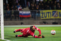 Samir Handanovic of Slovenia during the UEFA EURO 2016 Play-off for Final Tournament, Second leg between Slovenia and Ukraine, on November 17, 2015 in Stadium Ljudski vrt, Maribor, Slovenia. Photo by Ziga Zupan / Sportida