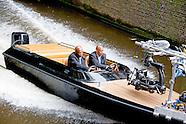 Samuel L. Jackson op de set bij de opnamen van de speelfilm The Hitman's Bodyguard in Amsterdam.