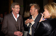 Paul O'Grady, Graham Norton and Marina Mcerlane, First night for 'The Producers' at the Theatre Royal, Drury Lane and afterwards at the Waldorf Astoria. ONE TIME USE ONLY - DO NOT ARCHIVE  © Copyright Photograph by Dafydd Jones 66 Stockwell Park Rd. London SW9 0DA Tel 020 7733 0108 www.dafjones.com
