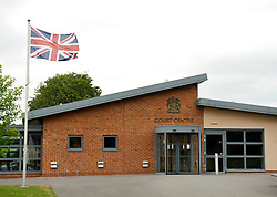 © Licensed to London News Pictures. 01/07/2013. Bulford, Wiltshire, UK.  The Military Court Centre in Bulford Camp, where Sergeant Danny Nightingale who is a former SAS sniper is being retried for illegal possession of a handgun and ammunition, which he says he was given as a gift abroad while on active service and which was found in his possessions in the UK.  His previous case was quashed on appeal.  01 July 2013.<br /> Photo credit : Simon Chapman/LNP