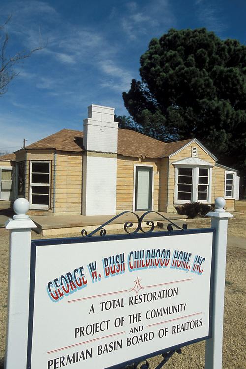 George W. Bush childhood home in Midland, Texas.<br /> ©Bob Daemmrich